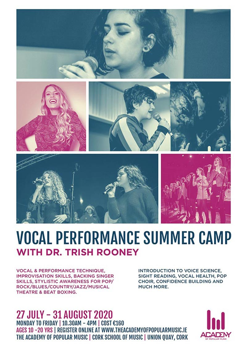 Singing & Vocal Performance Summer Camp Poster Cork Ireland
